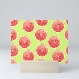 Pink Grapefruit Slices Pattern Mini Art Print