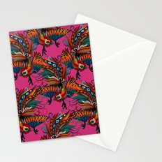 rooster ink pink Stationery Cards