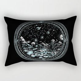 Miniature Circle Landscape 2: Astronausea.. Rectangular Pillow