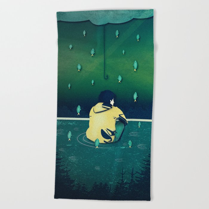 Emotion Sickness Beach Towel