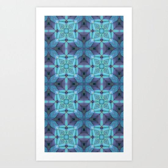 Soothing Blues Art Print