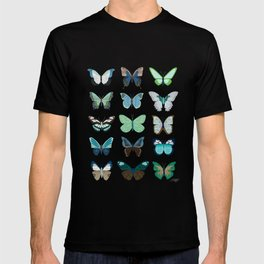 Green and Blue Butterflies T-shirt