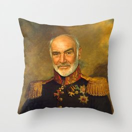 Sir Sean Connery - replaceface Throw Pillow