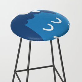 A Friendly Mountain Greeting Bar Stool