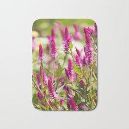 Colorful Celosia Bath Mat