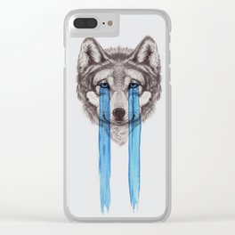 Don't Cry Wolf Clear iPhone Case