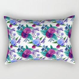 Roses and Lavender Rectangular Pillow