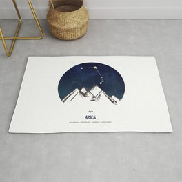 Astrology Aries Zodiac Horoscope Constellation Star Sign Watercolor Poster Wall Art Rug