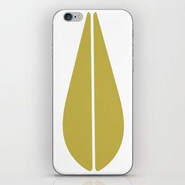 LOTUS MINIMAL - olive. iPhone Skin