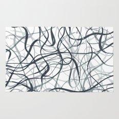 curvy gray & black Rug