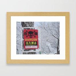 Snowy Danger Framed Art Print