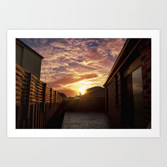 Dramatic Sunset Art Print