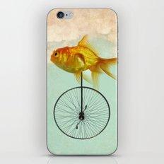 unicycle goldfish iPhone Skin
