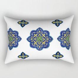Samarkand blue and yellow ornament Rectangular Pillow