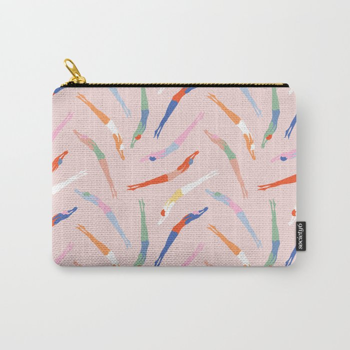Art Deco Divers in Champagne Carry-All Pouch