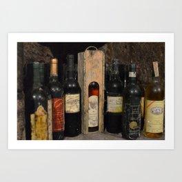 Vintage Wines Art Print