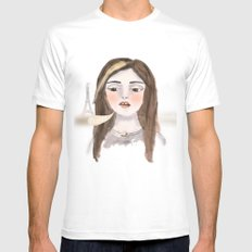 Anna Banana Mens Fitted Tee SMALL White