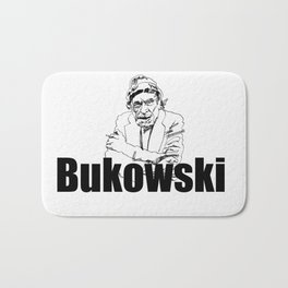 Charles Bukowski Drawing Bath Mat