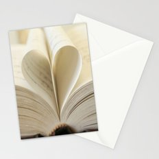 Book Heart Stationery Cards