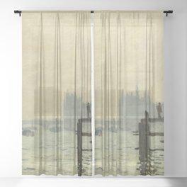 Claude Monet - The Thames below Westminster Sheer Curtain