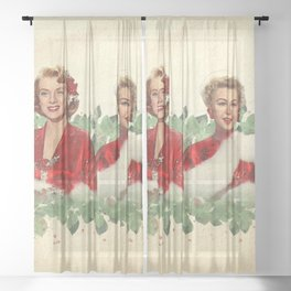 Sisters - A Merry White Christmas Sheer Curtain