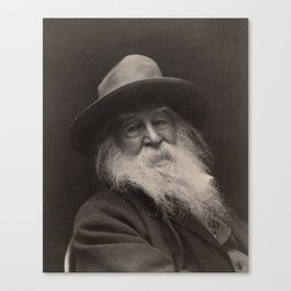 Walt Whitman- Photo By George Collins Cox Canvas Print