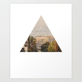 Hollywood Sign - Geometric Photography Art Print