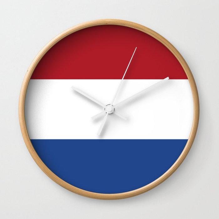 flag of netherlands  Wall Clock