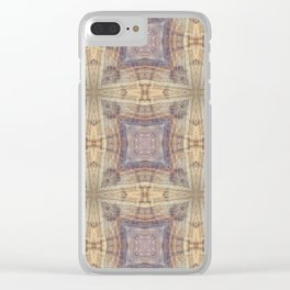 Romanesque Cross Clear iPhone Case
