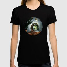 Portal LARGE Womens Fitted Tee Black