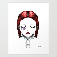 doll Art Prints featuring Doll by Helena Bowie Banshees