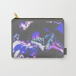 Faded Butterfly Blue Carry-All Pouch
