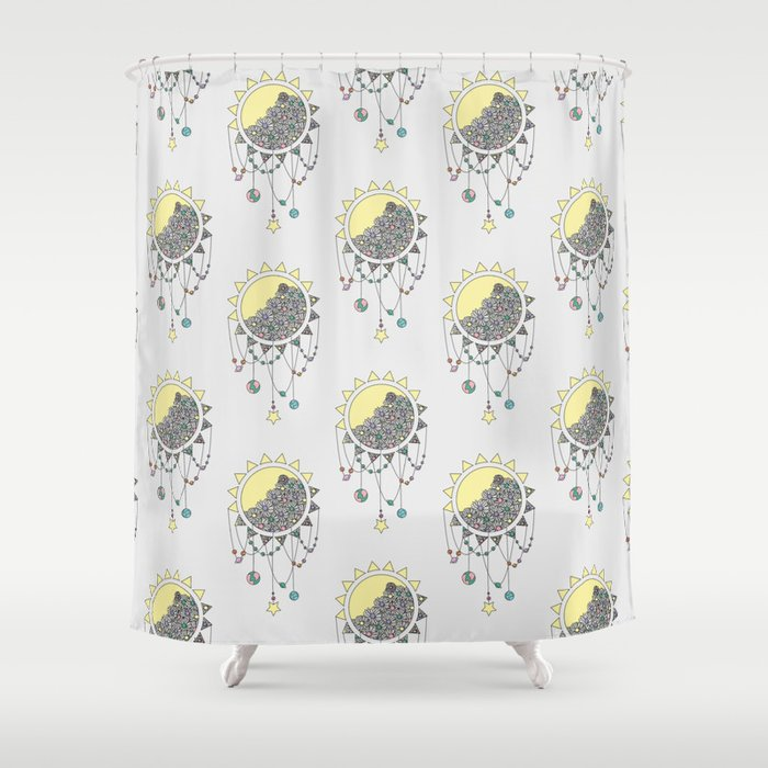 Cheer Up - Sun Illustration Shower Curtain