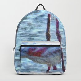 Balance of Nature Flamingo Watercolor Backpack