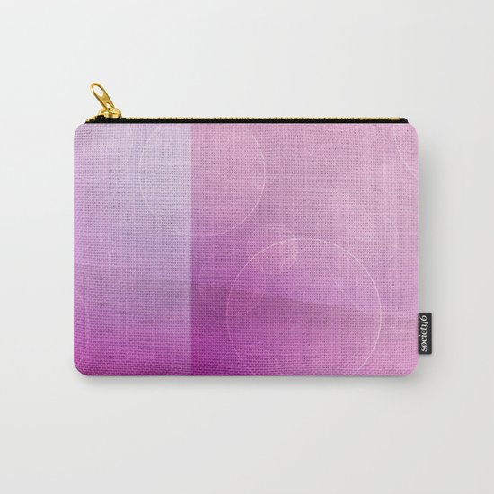 pink abstract circles background Carry-All Pouch