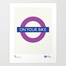 On Your Bike | TFL Art Print