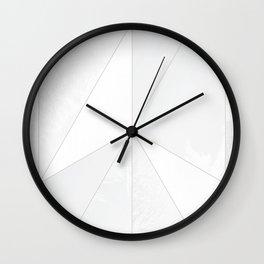 white verticals Wall Clock