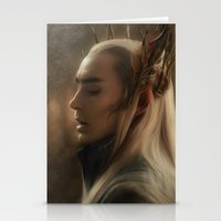 thranduil Stationery Cards featuring Thranduil by Andi Robinson