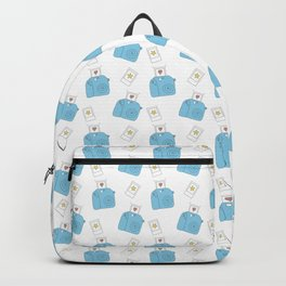 Instant Film Camera Pictures Pattern White Background Hearts Stars Backpack
