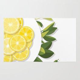 Citrus Plate Rug