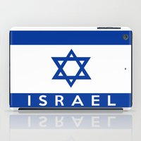 israel iPad Cases featuring Israel country flag name text  by tony tudor
