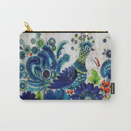 Russian Folk Art on Wood 03 Carry-All Pouch