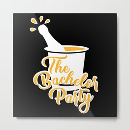 bachelor party masks, Hen party, Hen party Metal Print