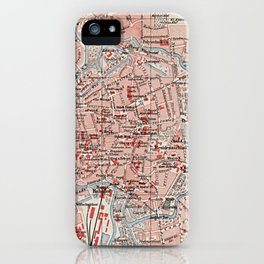 Vintage Map of Braunschweig Germany (1905)  iPhone Case