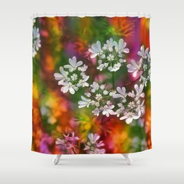 Floral Splash Shower Curtain