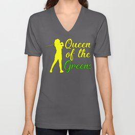 Golfer Gift Queen of the Greens Golf Queen Unisex V-Neck