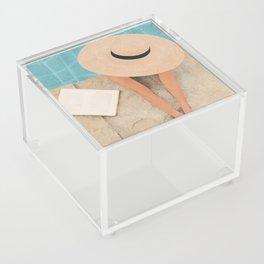 On the edge of the Pool II Acrylic Box