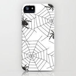 Black Spider Halloween web iPhone Case