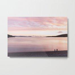Sunset lovers, Highlands, Scotland | landscape nature pink photo orange view panorama print poster Metal Print