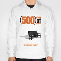 500 days of summer Hoodies featuring 500 Days Of Summer by FunnyFaceArt